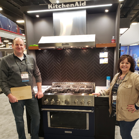 Greg & Michelle Ford checking out the new KitchenAid model