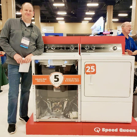 Greg was impressed by the Speed Queen Washers & Dryers with a 25 year life expectancy!