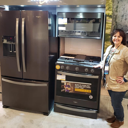Michelle showing some new Whirlpool Models
