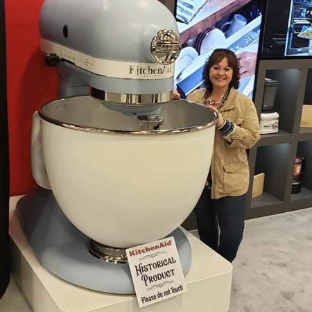Michelle says, so much for the diet when cooking with this KitchenAid Mixer!