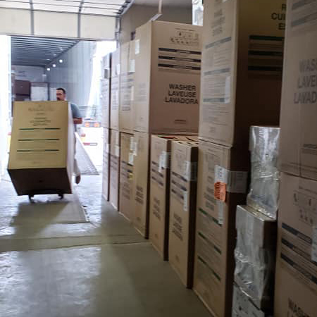 Almost finished unloading. Good thing, because we are out of room!